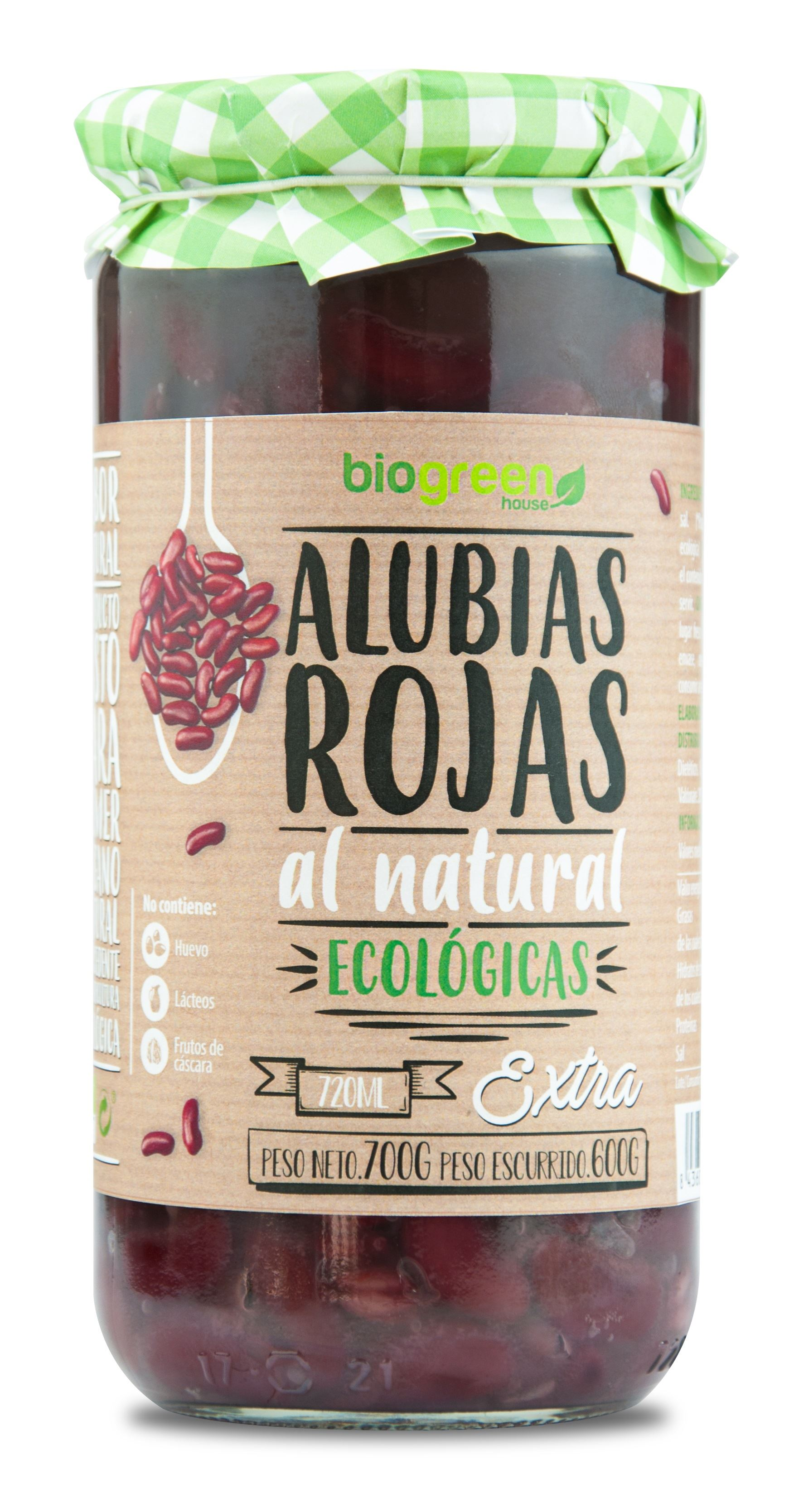 ALUBIAS ROJAS 720 ml. BIOGREEN