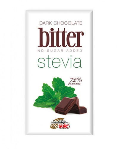 CHOCOLATE BITER 72% stevia 100gr