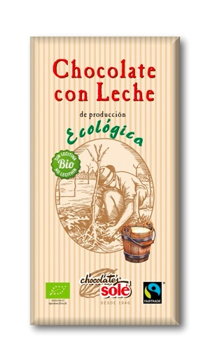 CHOCOLATE CON LECHE ECO FT 100 gr