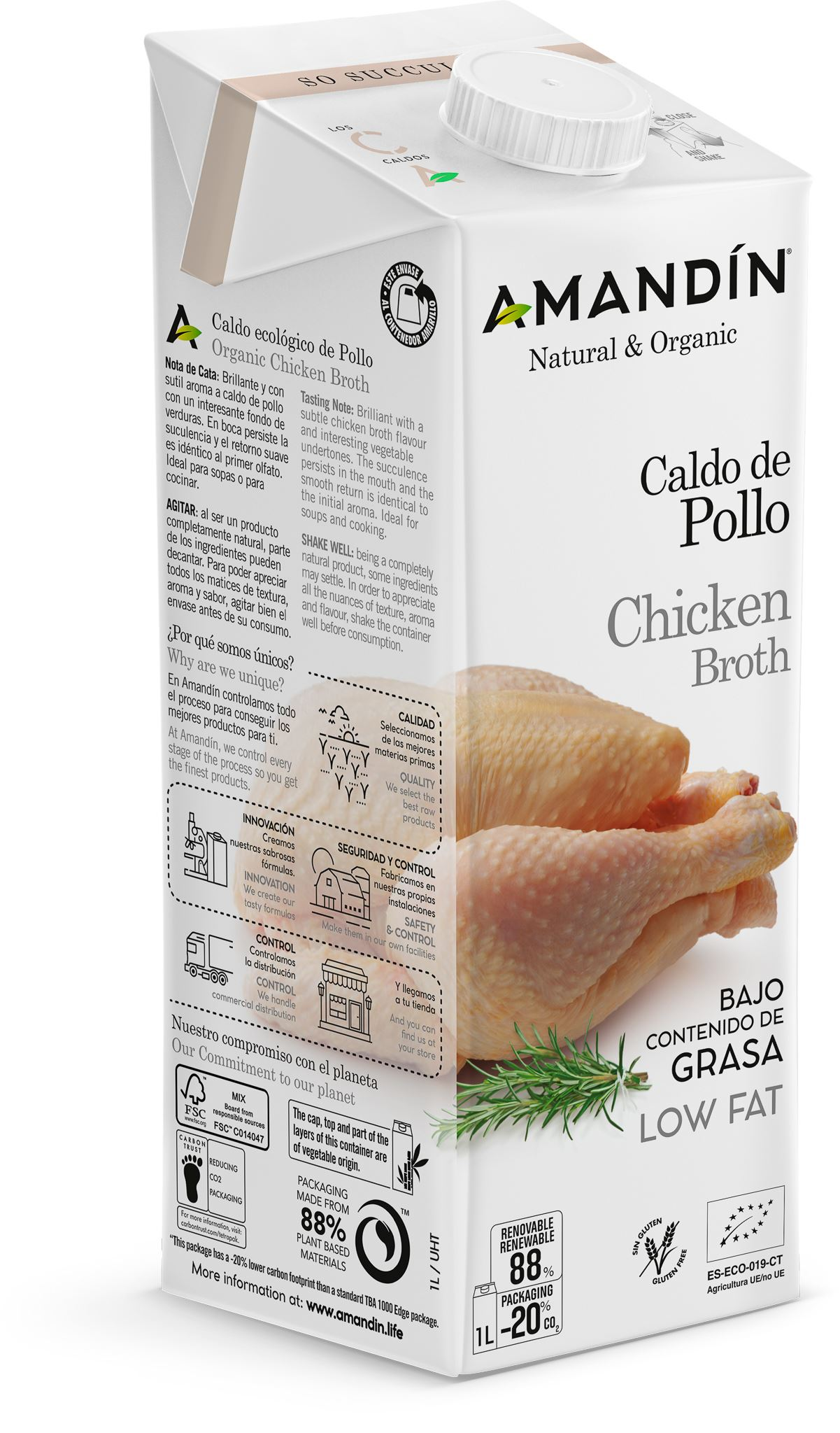 CALDO DE POLLO ECO 1 L SLIM