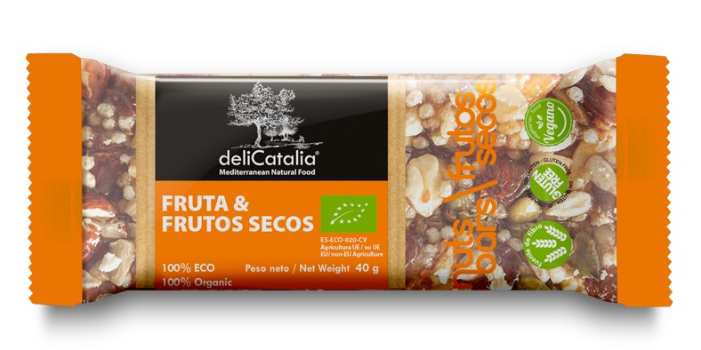 BARRITA FRUTA FRUTOS SECOS ECO NUT BARS 25x40 gr