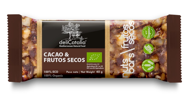 BARRITA CACAO FRUTOS SECOS ECO NUT BARS 25x40 gr