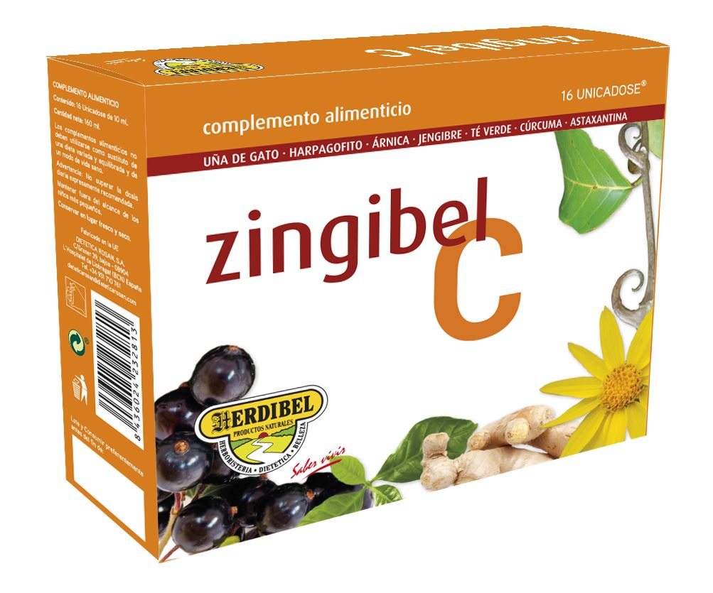 ZINGIBEL 16 Ampollas 10 ml.